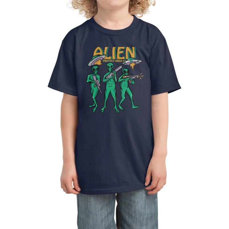 Alien Protect Area 51 Kids T-Shirt by plasticghost's Artist Shop