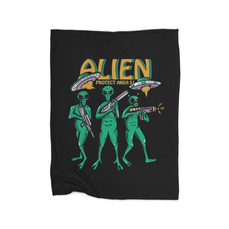Alien Protect Area 51 Home Blanket by plasticghost's Artist Shop