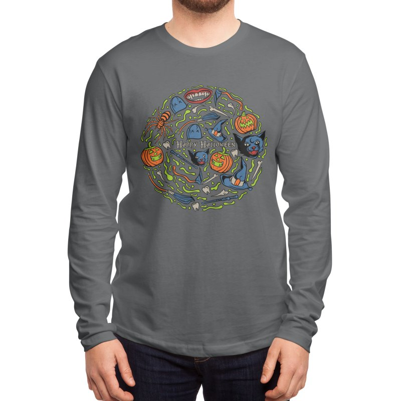happy halloween Men's Longsleeve T-Shirt by plasticghost's Artist Shop