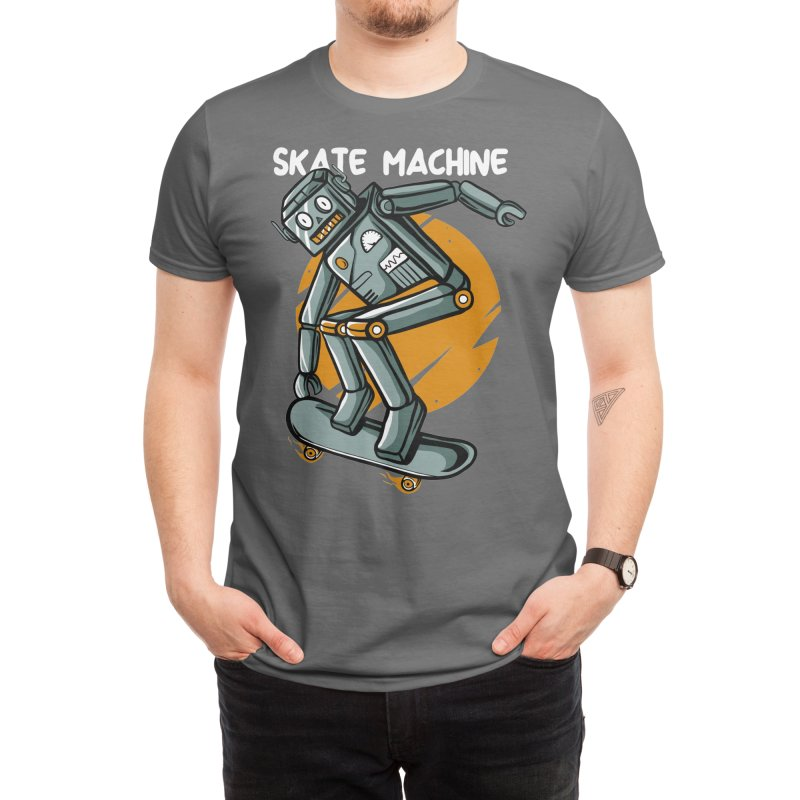 Skate machine Men's T-Shirt by plasticghost's Artist Shop