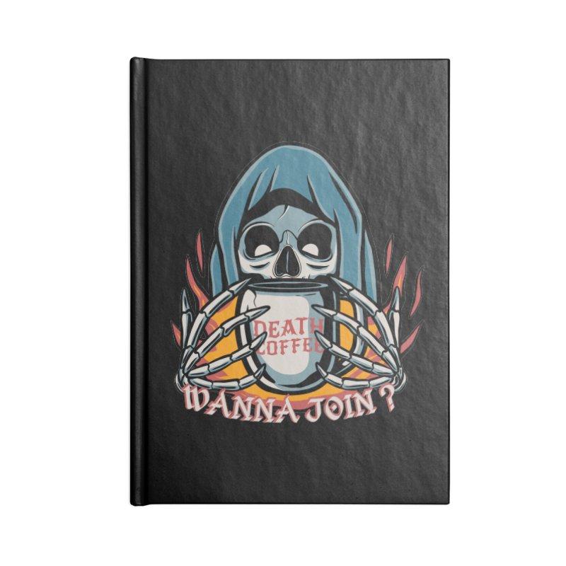 Death coffee Accessories Notebook by plasticghost's Artist Shop