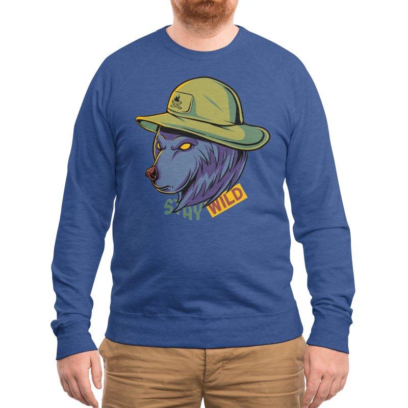 Stay wild Men's Sweatshirt by plasticghost's Artist Shop