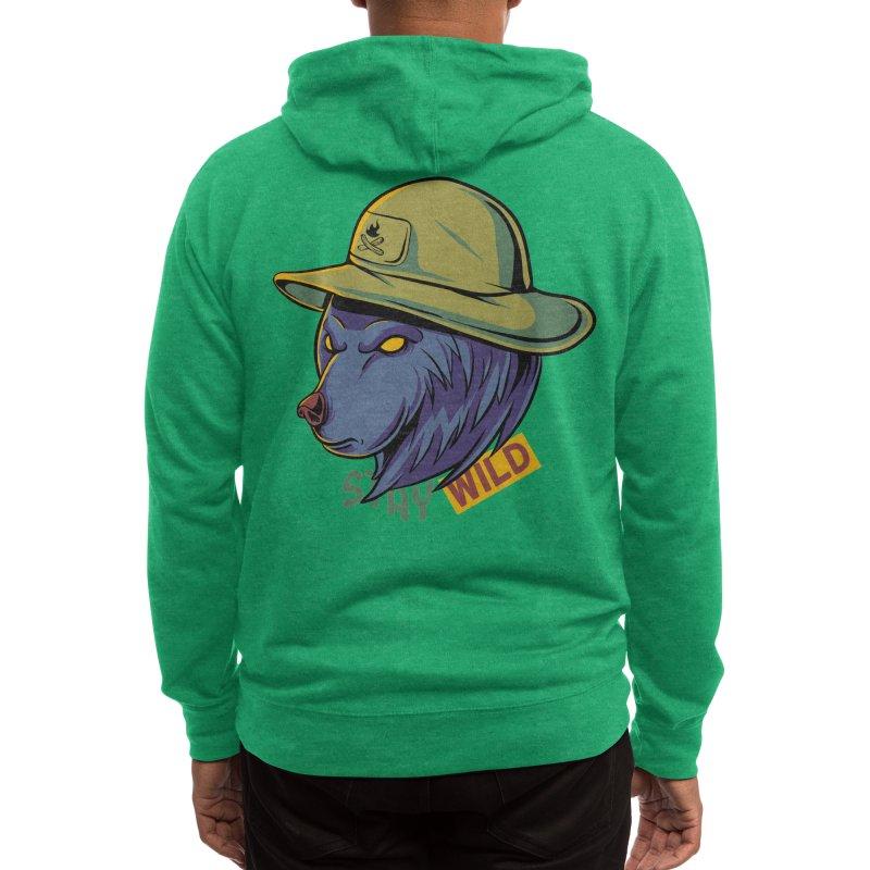 Stay wild Men's Zip-Up Hoody by plasticghost's Artist Shop