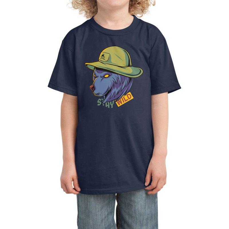Stay wild Kids T-Shirt by plasticghost's Artist Shop