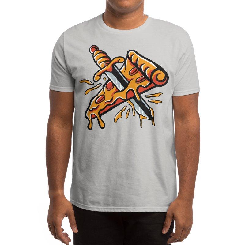stabbed pizza Men's T-Shirt by plasticghost's Artist Shop