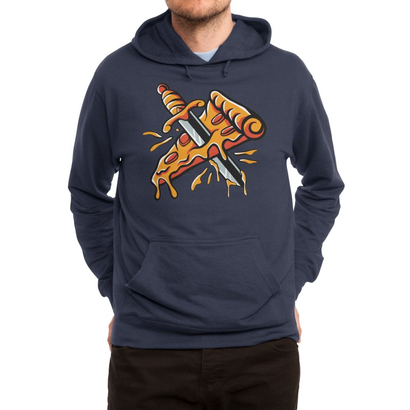 stabbed pizza Men's Pullover Hoody by plasticghost's Artist Shop