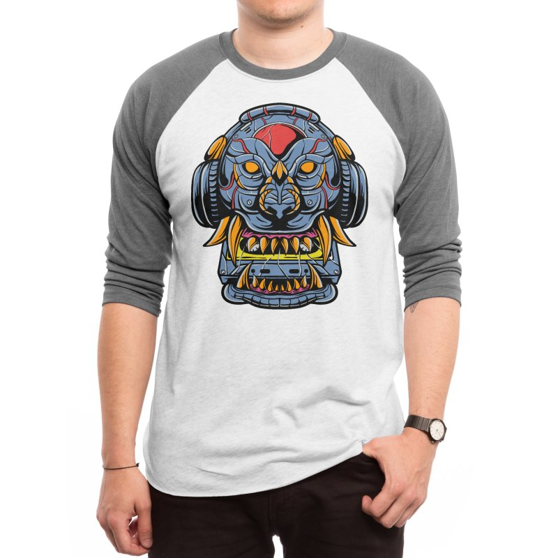 Lion cyborg Men's Longsleeve T-Shirt by plasticghost's Artist Shop
