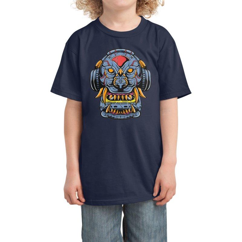 Lion cyborg Kids T-Shirt by plasticghost's Artist Shop