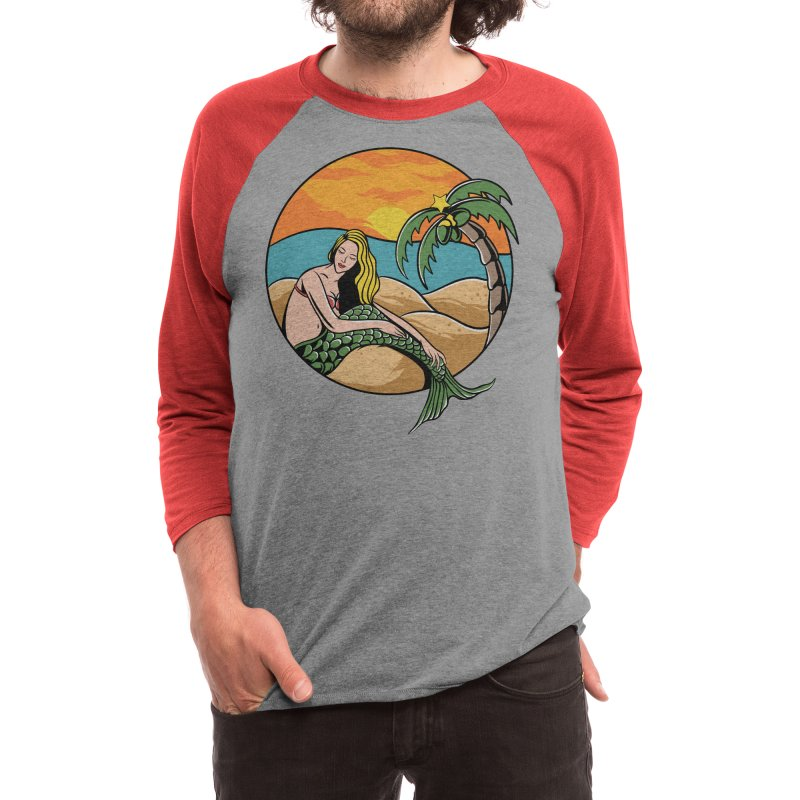 chillin mermaid Men's Longsleeve T-Shirt by plasticghost's Artist Shop