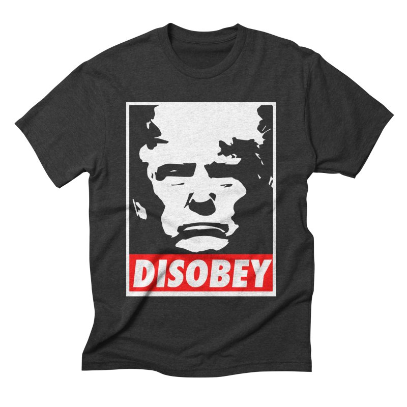 DISOBEY -  T shirt in Men's Triblend T-Shirt Heather Onyx by Plastic Jesus - official apparel