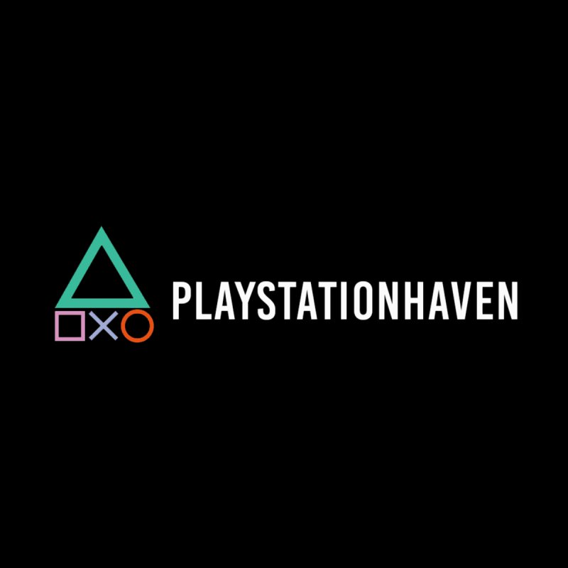 PlayStation Haven Banner Logo Men's T-Shirt by PlayStation Haven Gear