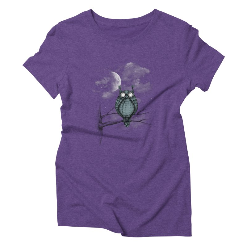 Night Owl Women's Triblend T-shirt by plonker's Artist Shop