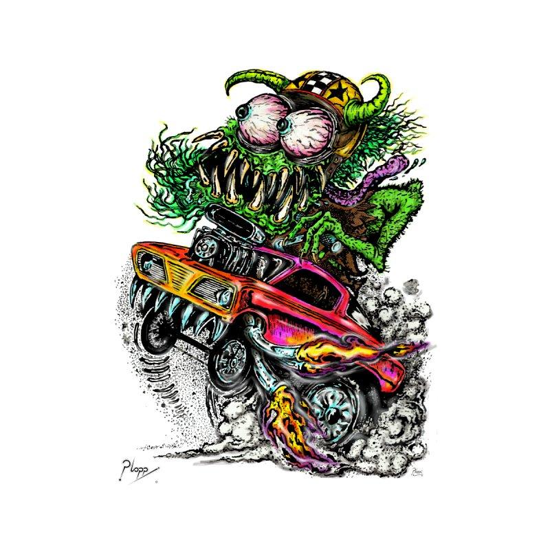 70's style Monster Drag racing Men's T-Shirt by Original art by artist Ploppi