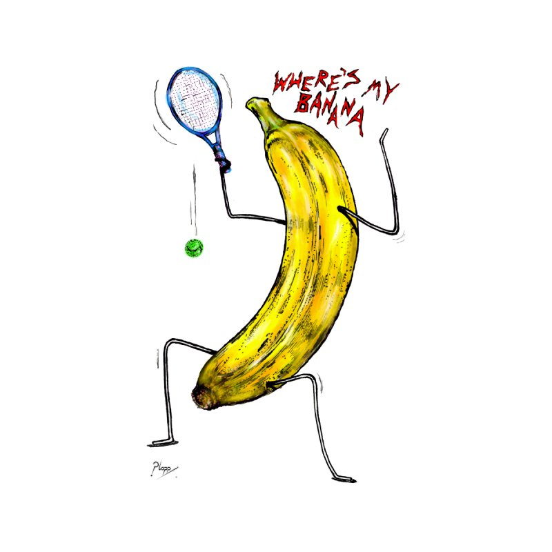 Angry Banana Men's T-Shirt by Original art by artist Ploppi