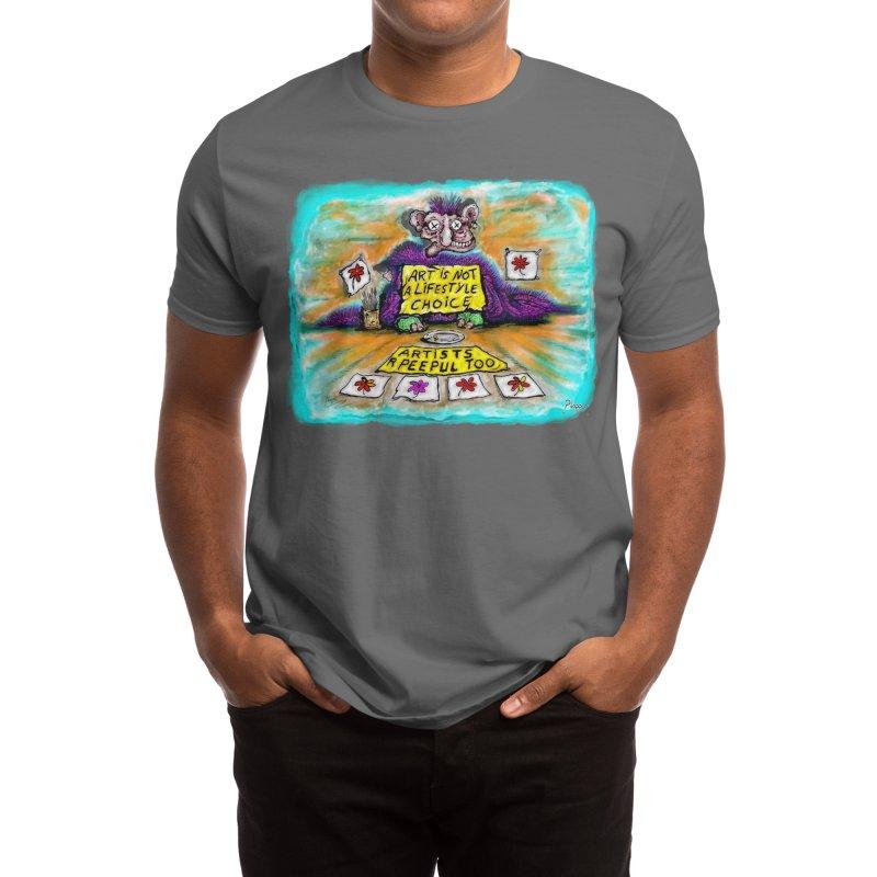 Starving artist Men's T-Shirt by Original art by artist Ploppi