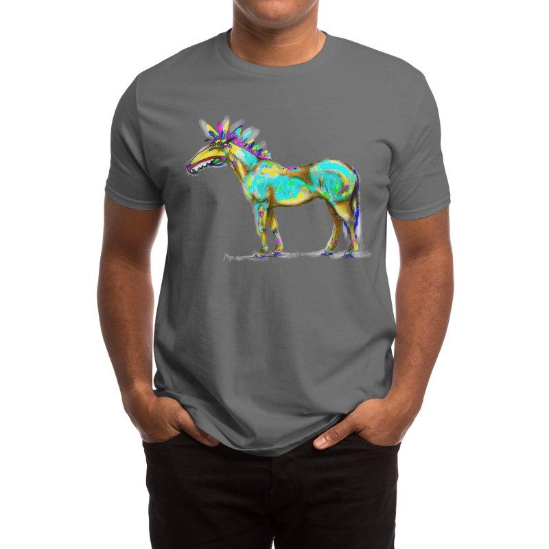 Wonky Horse Men's T-Shirt by Original art by artist Ploppi