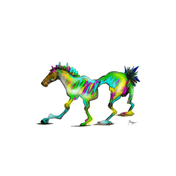 image for Colorful Wonky Horse