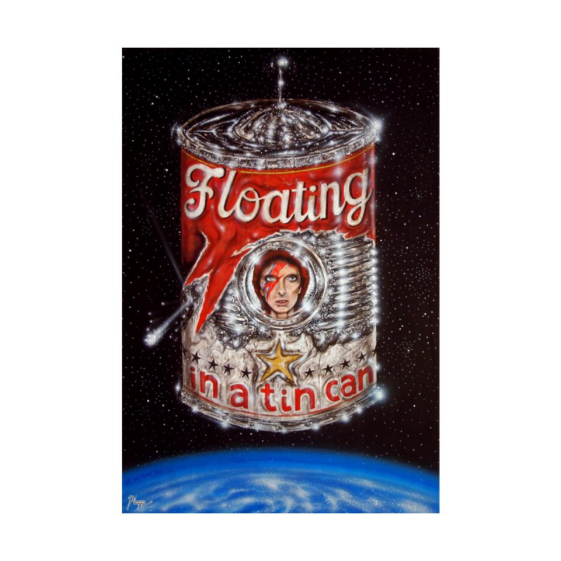 Floating in a tin can. Men's T-Shirt by Original art by artist Ploppi