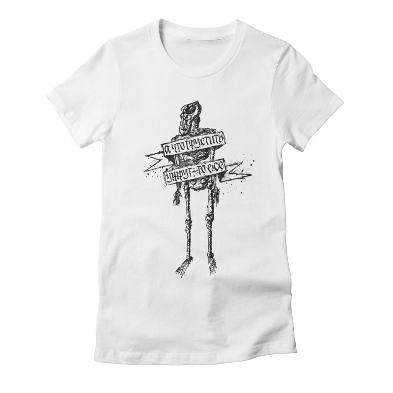 Skeleton Women's T-Shirt by pltnk