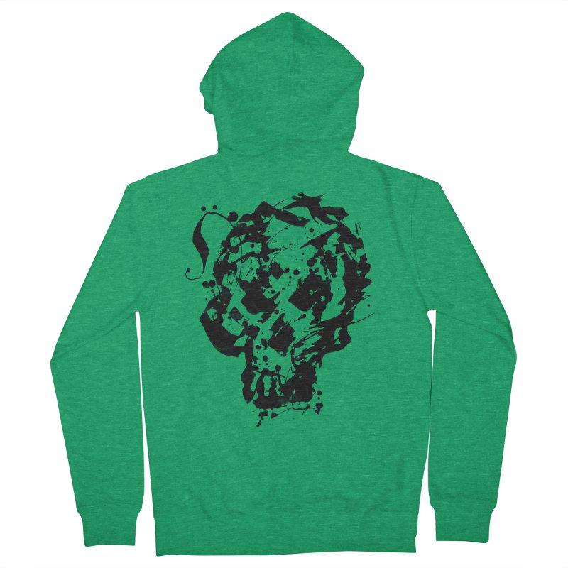 Inky Skull Women's Zip-Up Hoody by pltnk
