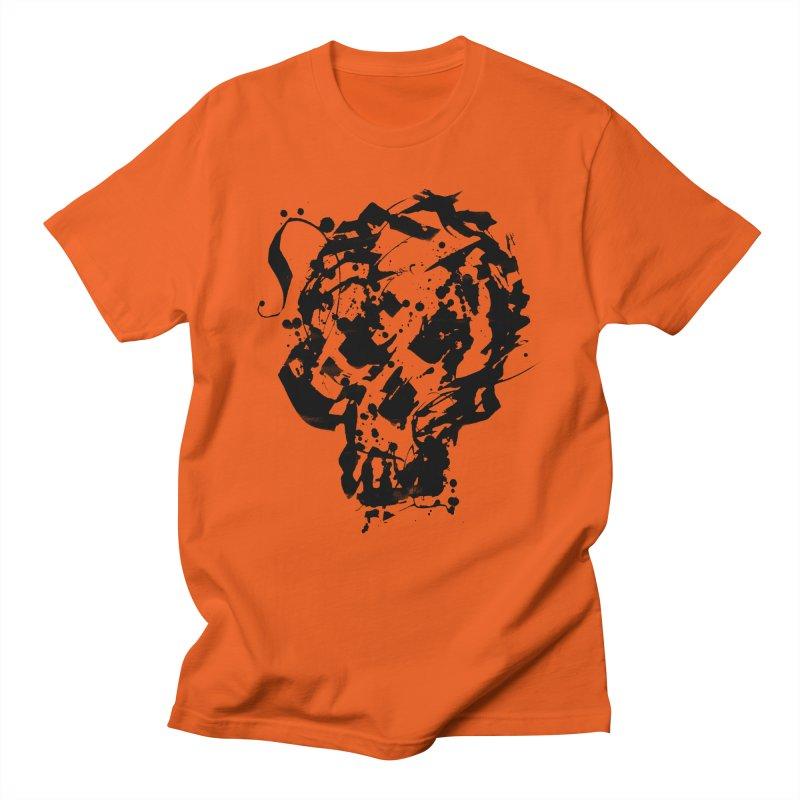 Inky Skull Men's T-Shirt by pltnk
