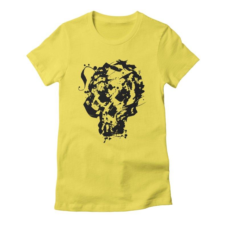 Inky Skull Women's T-Shirt by pltnk