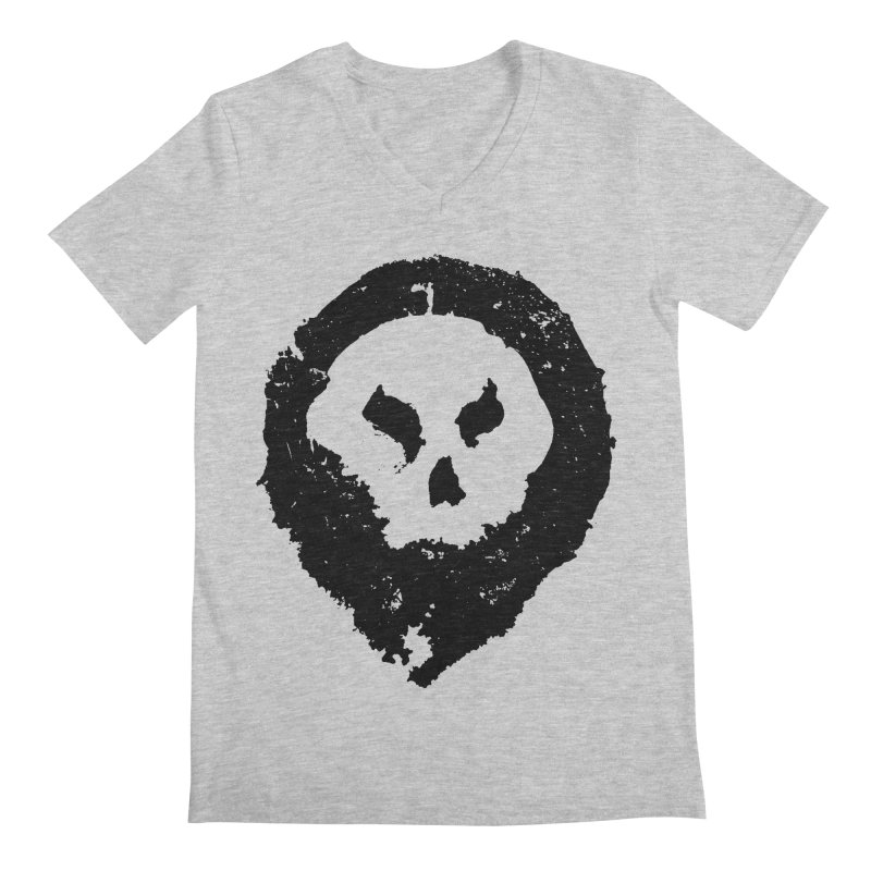 Skull Men's V-Neck by pltnk