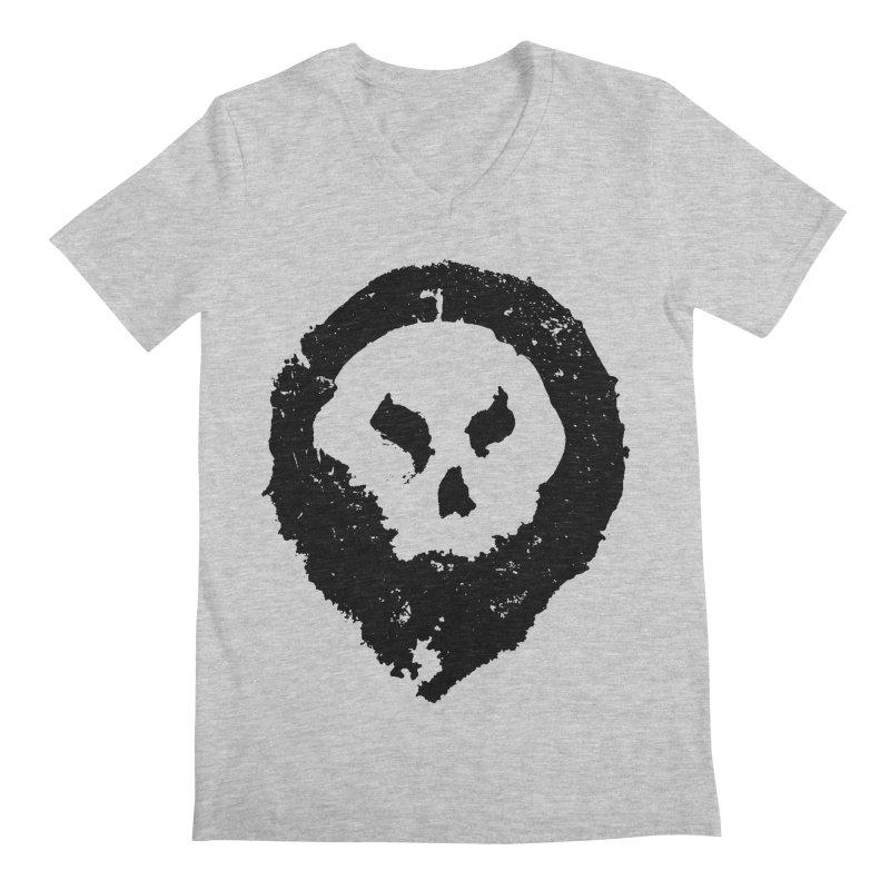 Skull Men's V-Neck by pltnk