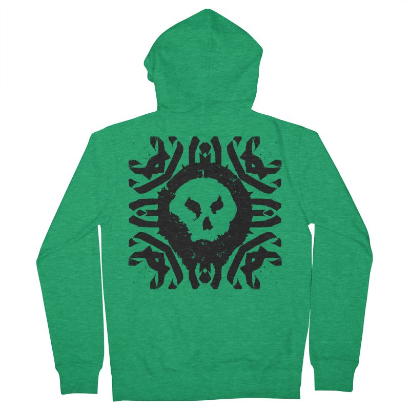 Skull 2 Men's Zip-Up Hoody by pltnk
