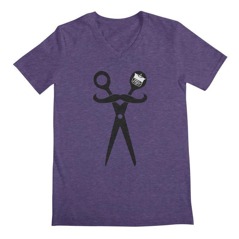 Scissors Men's Regular V-Neck by pluko's Artist Shop