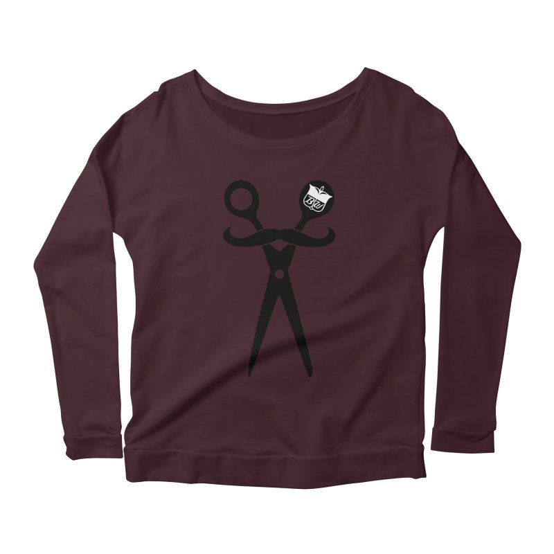 Scissors Women's Longsleeve Scoopneck  by pluko's Artist Shop