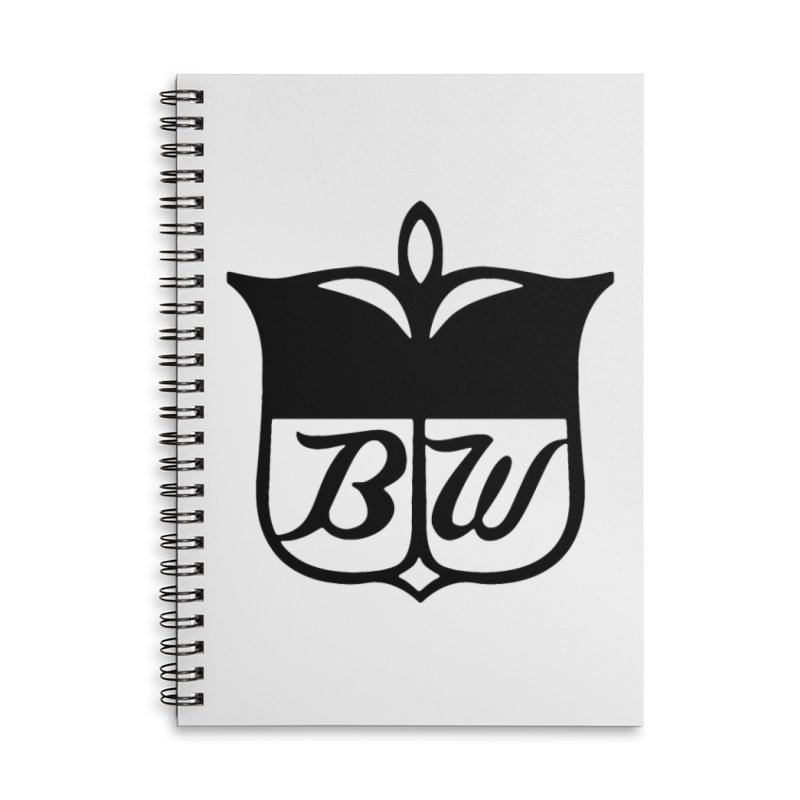 Shield Accessories Lined Spiral Notebook by pluko's Artist Shop