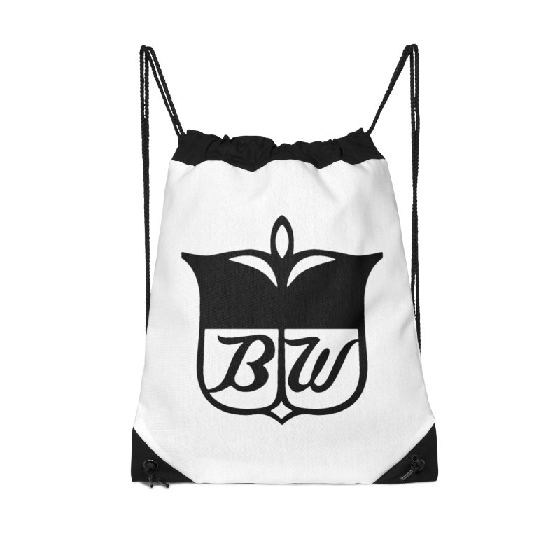 Shield Accessories Drawstring Bag Bag by pluko's Artist Shop