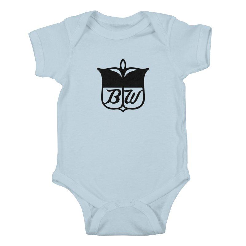 Shield Kids Baby Bodysuit by pluko's Artist Shop