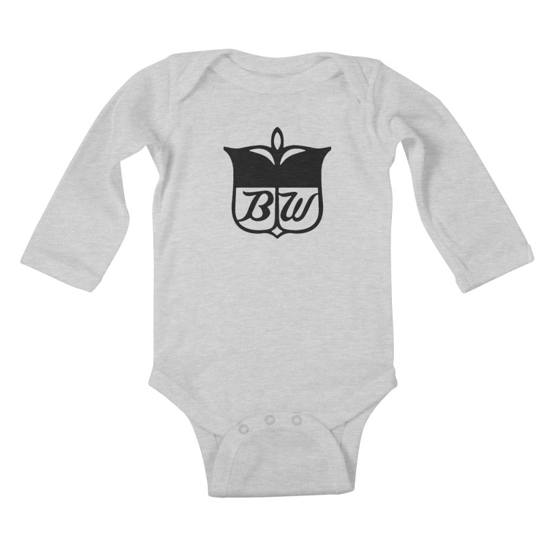 Shield Kids Baby Longsleeve Bodysuit by pluko's Artist Shop