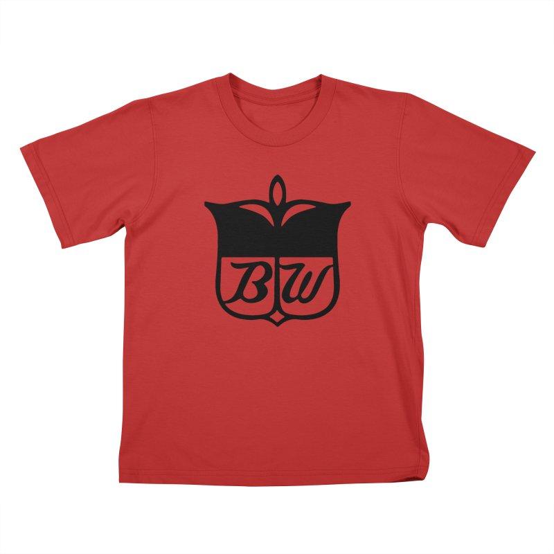Shield Kids T-Shirt by pluko's Artist Shop