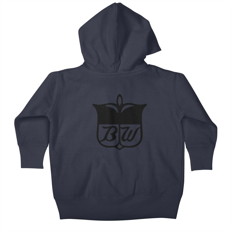Shield Kids Baby Zip-Up Hoody by pluko's Artist Shop