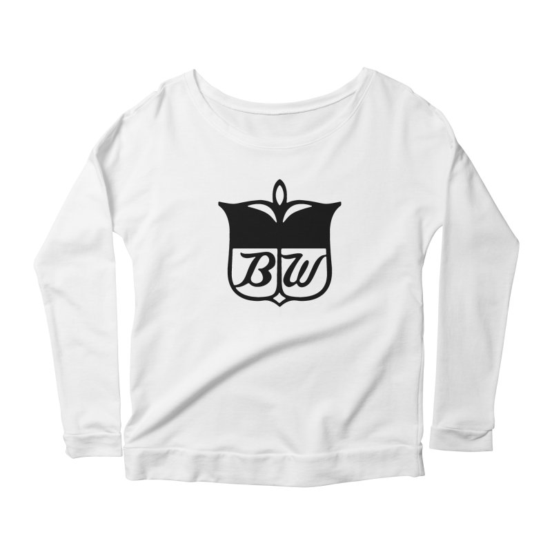 Shield Women's Longsleeve Scoopneck  by pluko's Artist Shop
