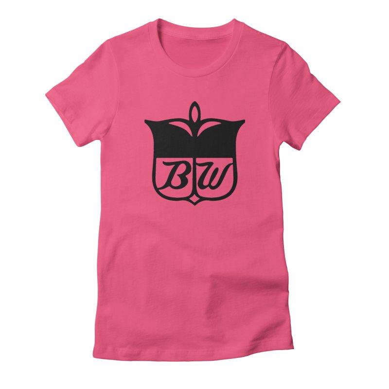 Shield Women's Fitted T-Shirt by pluko's Artist Shop