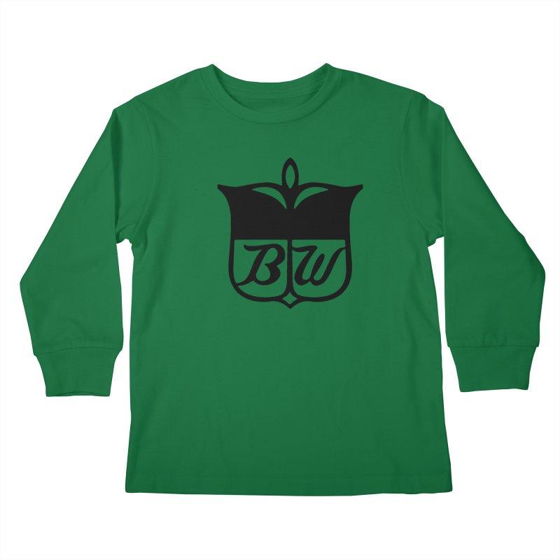 Shield Kids Longsleeve T-Shirt by pluko's Artist Shop