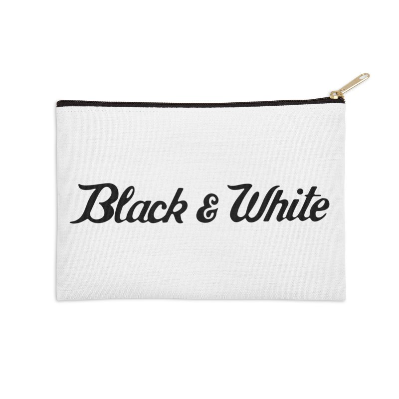 Black & White Accessories Zip Pouch by pluko's Artist Shop