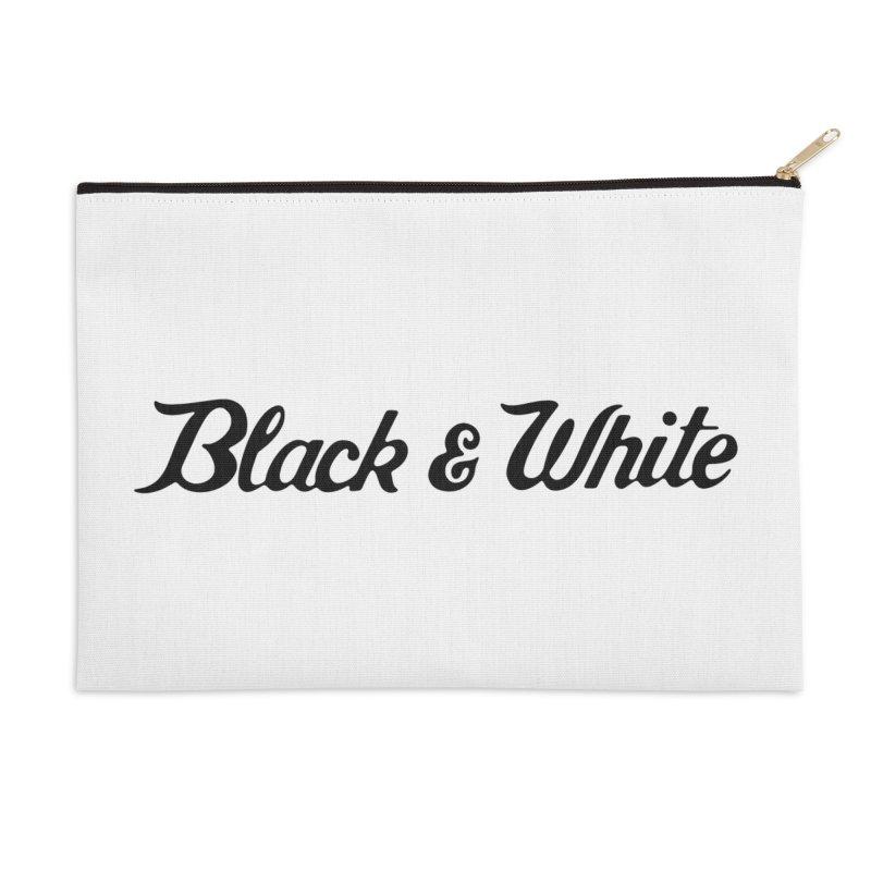 Black & White Accessories Zip Pouch by pluko's Artist Shop