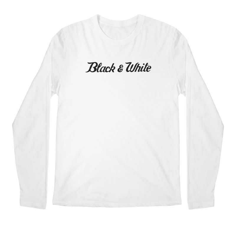 Black & White Men's Longsleeve T-Shirt by pluko's Artist Shop
