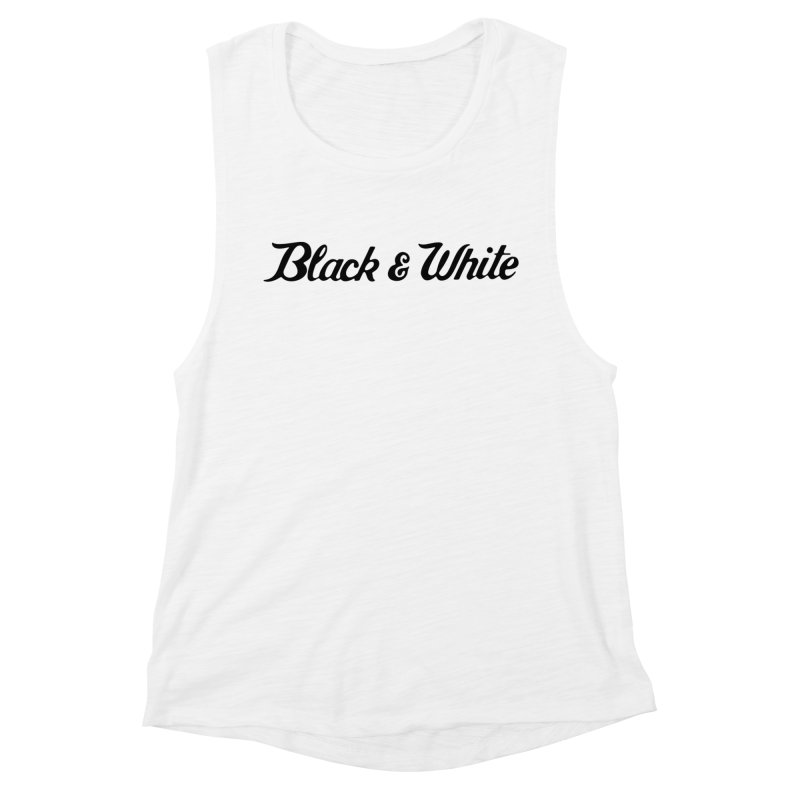 Black & White Women's Muscle Tank by pluko's Artist Shop