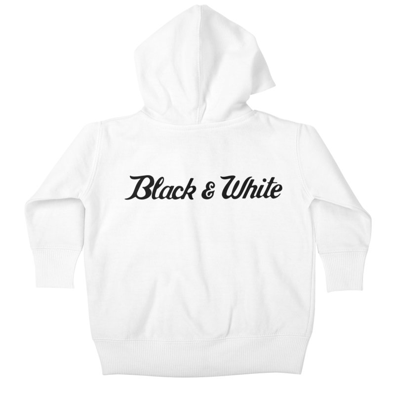 Black & White Kids Baby Zip-Up Hoody by pluko's Artist Shop