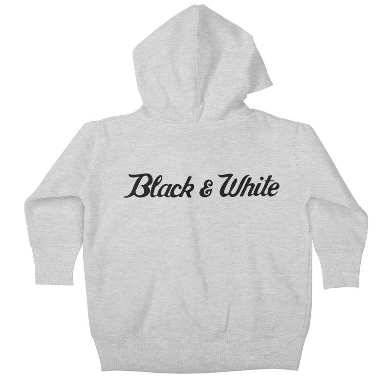 Black & White Kids Baby Zip-Up Hoody by pluko's Artist Shop