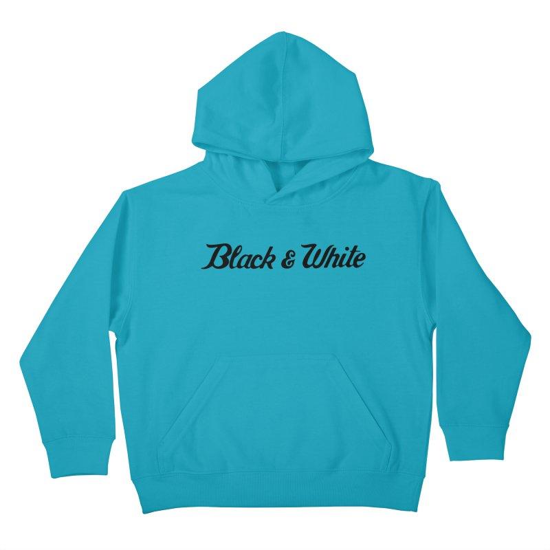Black & White Kids Pullover Hoody by pluko's Artist Shop