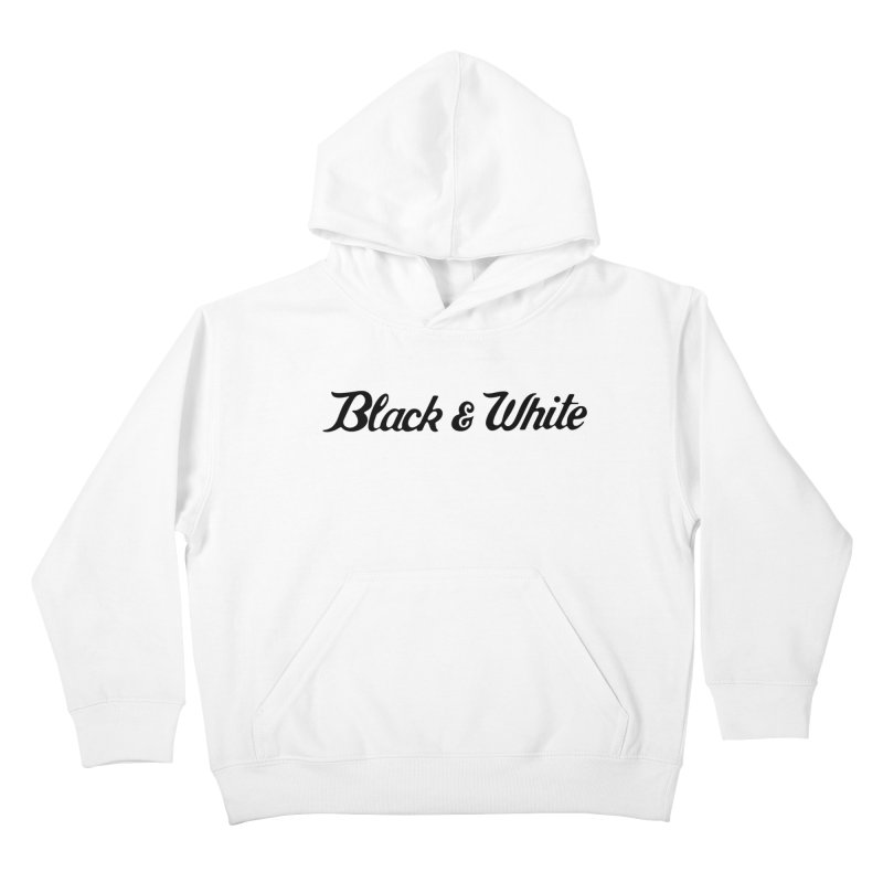 Black & White Kids Pullover Hoody by pluko's Artist Shop