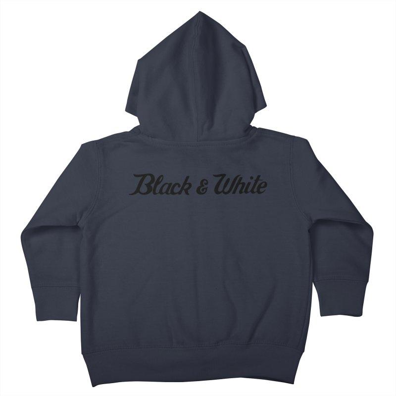 Black & White Kids Toddler Zip-Up Hoody by pluko's Artist Shop