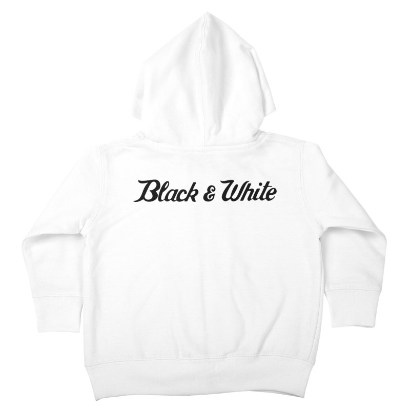Black & White Kids Toddler Zip-Up Hoody by pluko's Artist Shop